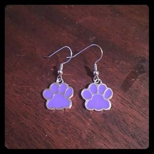 Jewelry - 🐾💜Purple Paw Print Earrings💜🐾